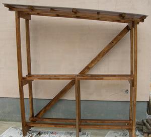 基本の薪棚