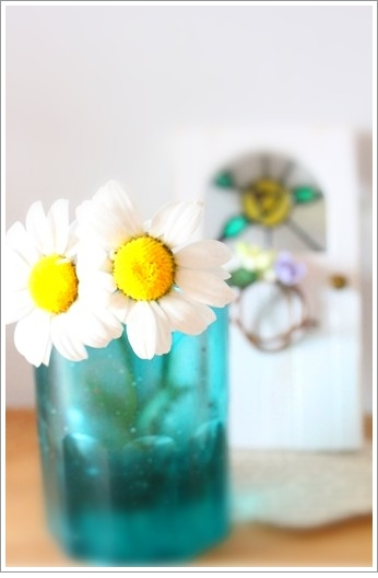 お花とショットグラス♪