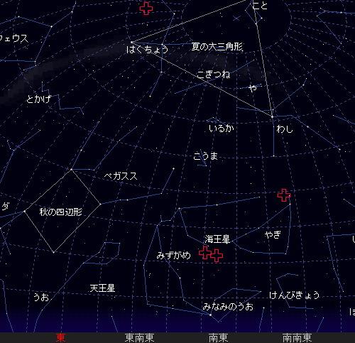 2011 8 7 みずがめ座ι南流星群星図