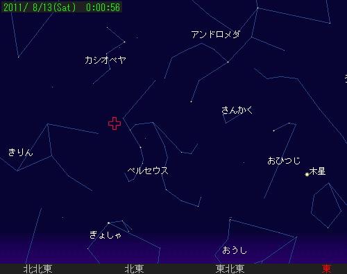 2011 8 13 ペルセウス座流星群星図0056