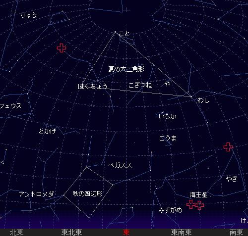 2011 8 18 はくちょう座κ流星群星図