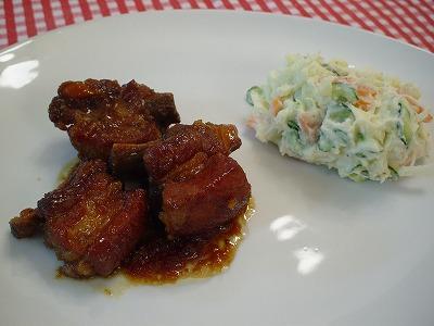 スペアリブ煮とポテトサラダ