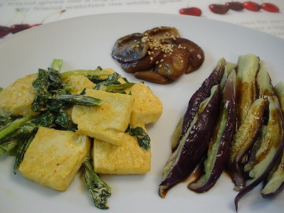 豆腐と小松菜のマヨ炒め
