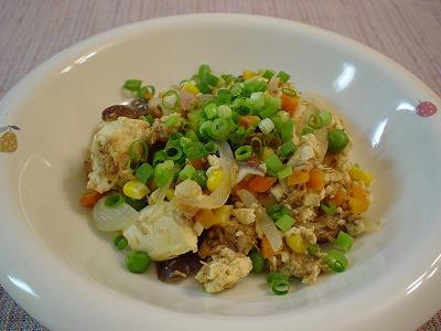 豆腐とツナのカレー炒め