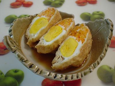 人参と卵の袋煮
