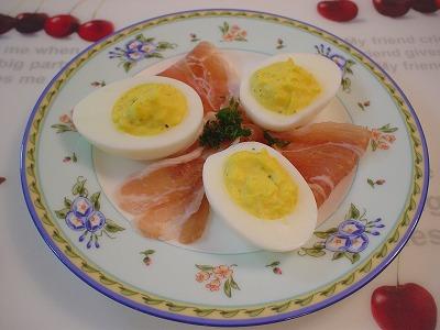 卵のオードブル