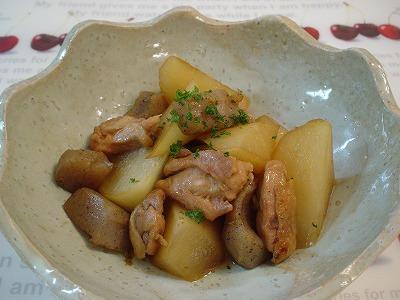 大根と鶏とこんにゃくの炒め煮