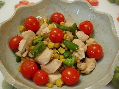鶏肉の色鮮やか炒め