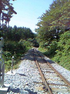 線路はつづくよ、どこまでも。