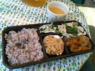 五穀米のお弁当