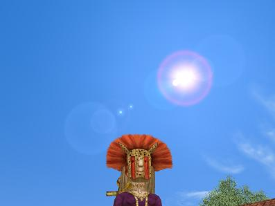 空を見上げるドゴン