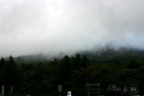 富士山霧の中