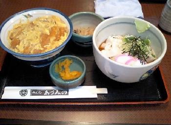 あづみのカツどんきしめん定食(コロ)