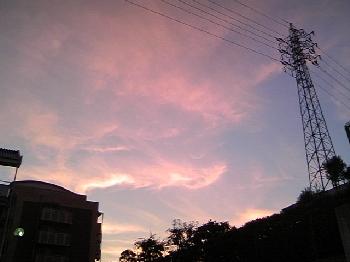 おとついの夕日