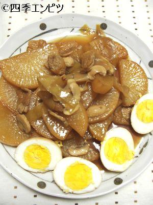 201102 大根とゆで玉子のさっぱり煮