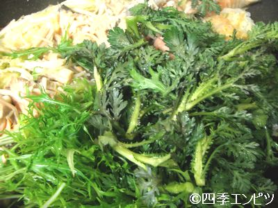 201102 ベランダ菜園の野菜でちゃんちゃん焼き