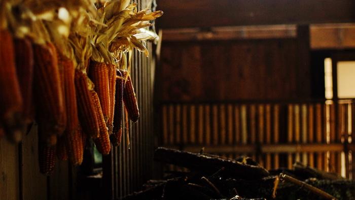 黒川温泉の囲炉裏