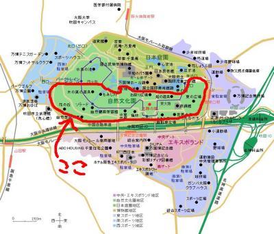 万博記念公園地図