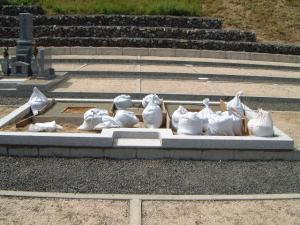 延べ完成、墓の基礎2