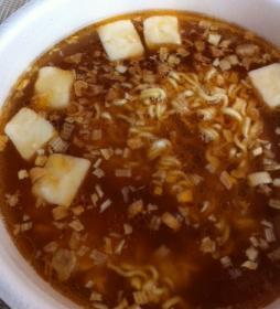 豆腐ラーメン完成